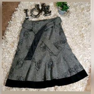 ALI MILES Wool Blend Lined Skirt